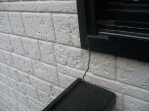 一戸建て 外壁のひび割れ