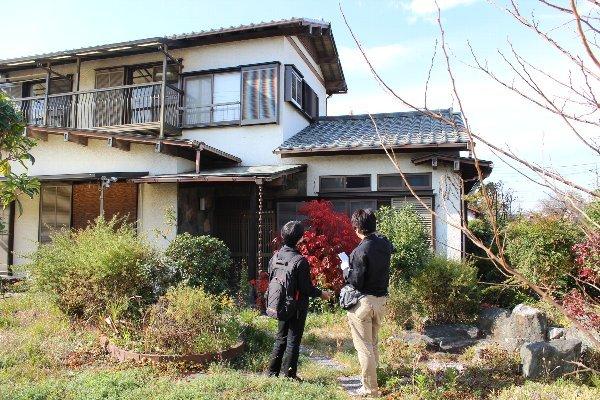 一戸建て住宅を外観から確認
